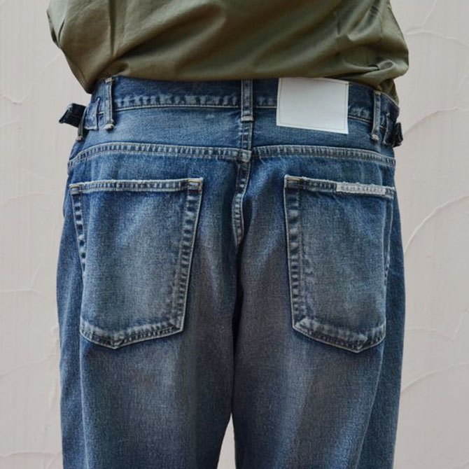 YOUNG&OLESEN(ヤングアンドオルセン) big cinch jeans-WASHED OUT-(10)