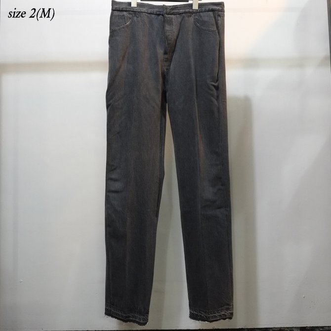 7 ×7 / seven by seven ( セブン バイ セブン )   REWORK DENIM TROUSERS  - BLACK - size 2(M) (10)