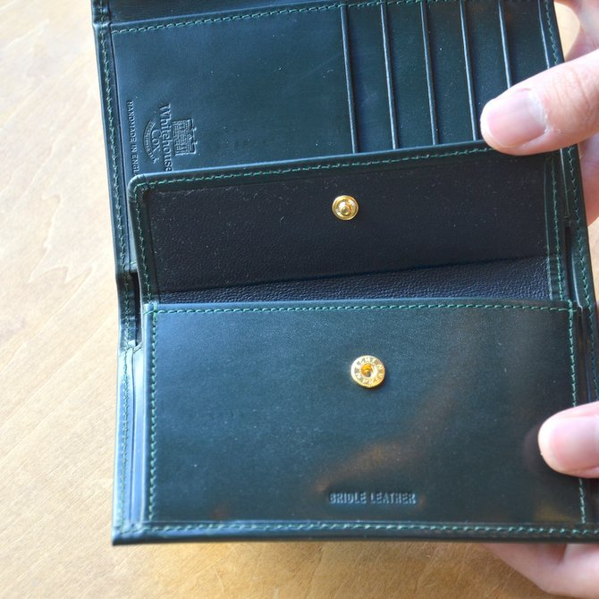 Whitehouse Cox (ホワイトハウスコックス)  3FOLD WALLET BRIDLE S7660 -GREEN-(10)