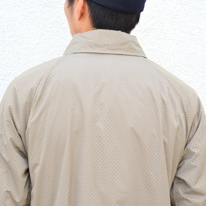 【40% off sale】ts(s) (ティーエスエス) Perforated Nylon Taffeta Cloth Coach Jacket -(32)Gray Beige- #TT36AJ02 (10)