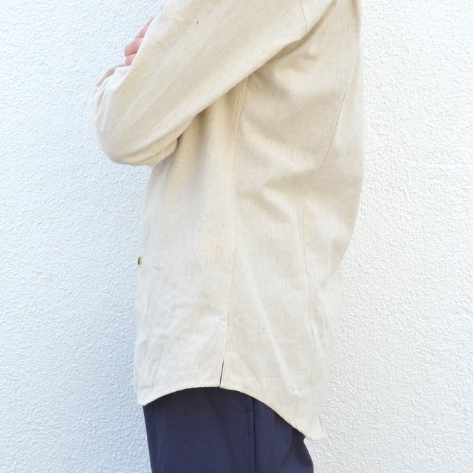 【40% off sale】S.E.H KELLY(エス・イー・エイチ・ケリー) /  LANCASTRIAN DESERT COTTON KELLY COLLAR SHIRT-(80)BEIGE- #5116023(10)