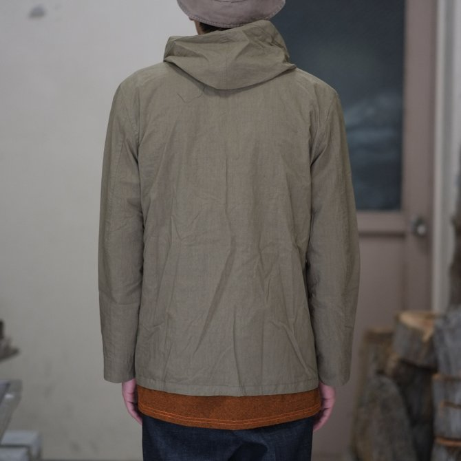 【30% off SALE】【2018 SS】FRANK LEDER(フランク リーダー) TRIPLE WASHED THIN COTTON HOOD JACKET -BEIGE-  #0212013(10)