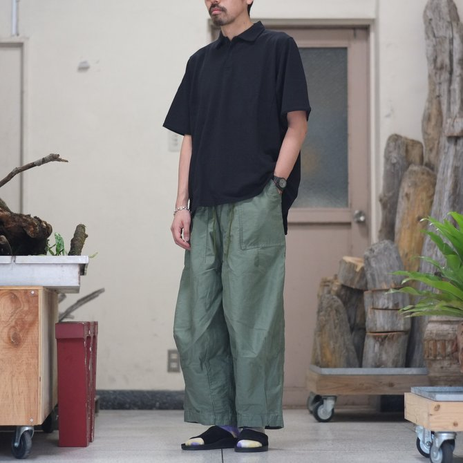 blurhms(ブラームス) / Seed Stitch Cubic Polo  -Black-  BHS-18SS024(10)