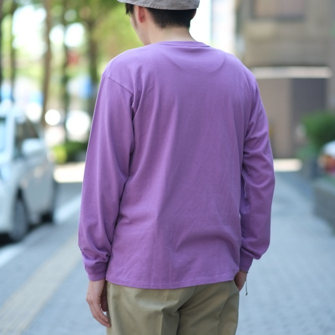 【2018 SS】AURALEE(オーラリー)/  SOFT CORD L/S TEE -PURPLE- #A8SP01MT(10)