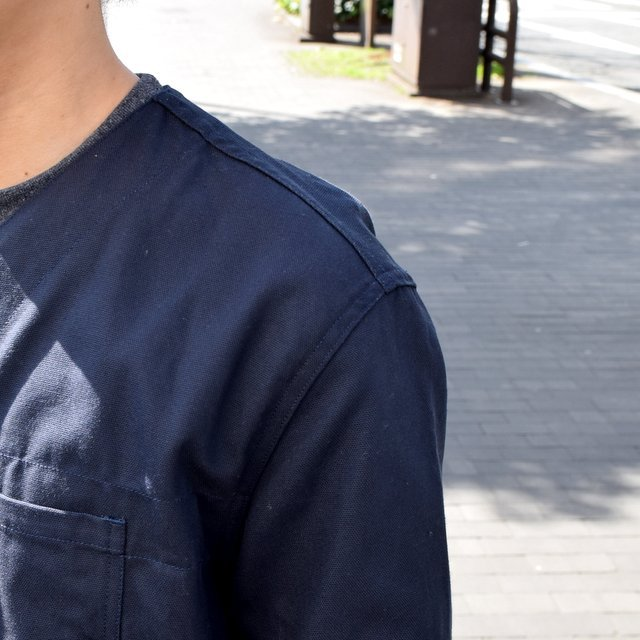 holk (ホーク) Farmers jacket -NAVY- #HOLK-002 (10)