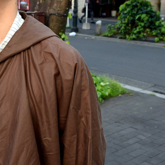 【2019 SS】 too good(トゥーグッド) / THE MESSENGER CAPE WAXED COTTON LW -CLAY-(10)