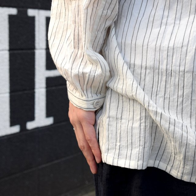 【2019 SS】 too good(トゥーグッド) / THE DRAUGHTSMAN SHIRTS WIDE -TICKING STRIPE-(10)