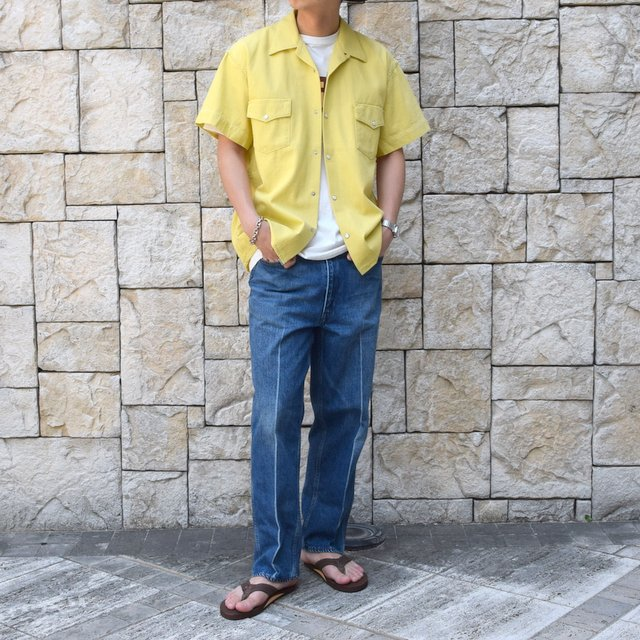【30% off sale 】WESTOVERALLS( ウエストオーバーオールズ )  DENIM S/S SHIRTS 19SWSH01-YE(10)