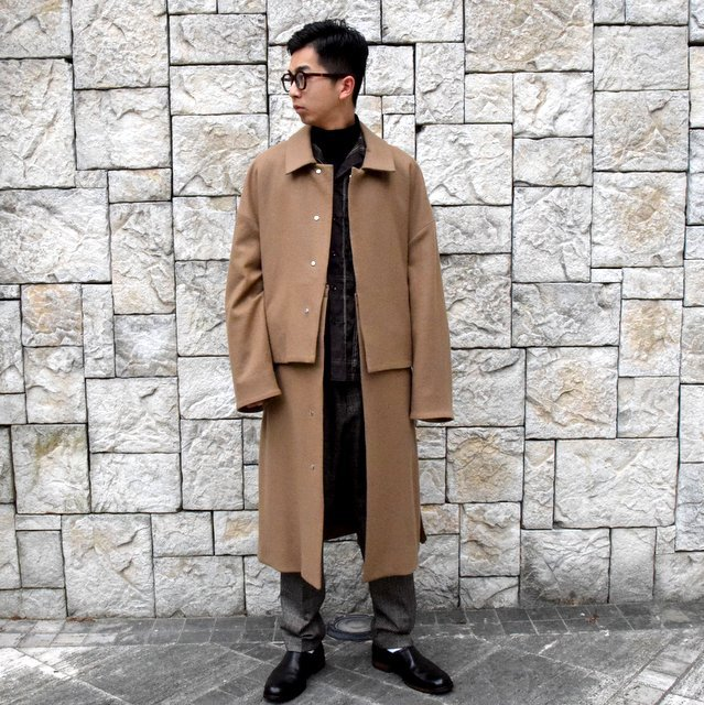 YOKE(ヨーク)/3WAY BAL COLLAR SHARE COAT -CAMEL- #YK19AW0049C(10)