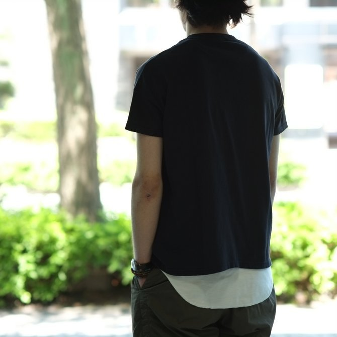 Cal Cru(カルクルー) C/N S/S RELAXED FIT反応染め(MADE IN USA)  -BLACK-【S】(11)