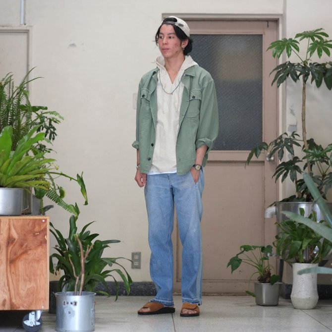【30% off sale】7 ×7 / seven by seven ( セブン バイ セブン )   REWORK DENIM TROUSERS 2  - INDIGO -(11)