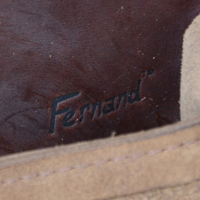 FERNAND LEATHER(フェルナンド・レザー) Horizontal  Latch Pouch M-BEIGE SUEDE-(11)