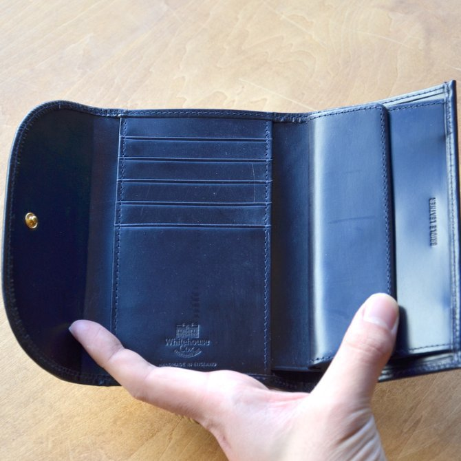 Whitehouse Cox (ホワイトハウスコックス)  3FOLD WALLET BRIDLE S7660 -NAVY-(11)