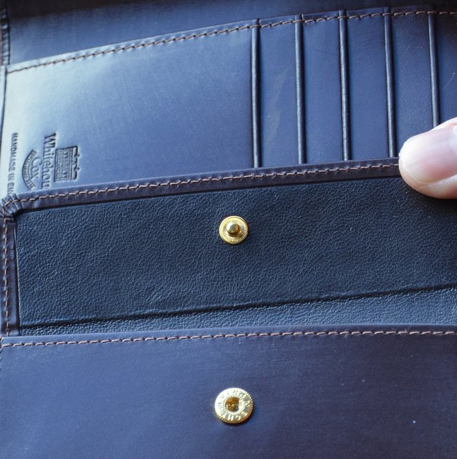Whitehouse Cox (ホワイトハウスコックス)  3FOLD WALLET BRIDLE S7660 -HAVANA-(11)