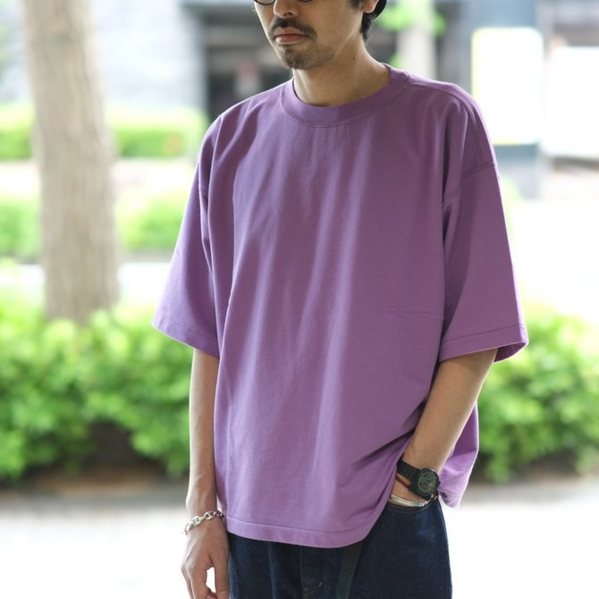 【2018 SS】AURALEE(オーラリー)/  SUPER HIGH GAUGE SWEAT BIG TEE -PURPLE- #A8ST02NU(11)