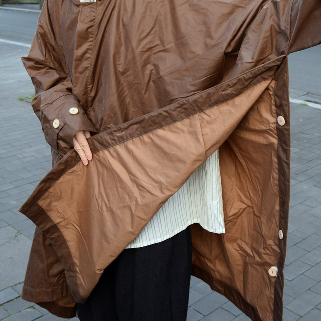 【2019 SS】 too good(トゥーグッド) / THE MESSENGER CAPE WAXED COTTON LW -CLAY-(11)
