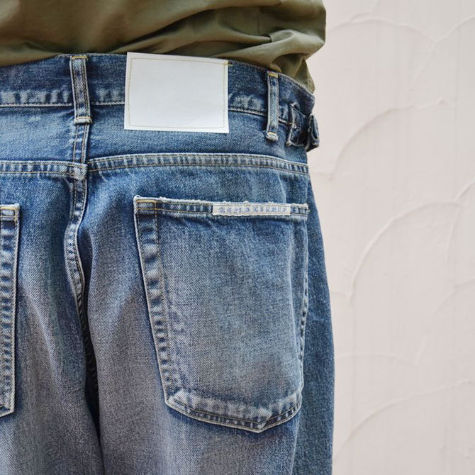 YOUNG&OLESEN(ヤングアンドオルセン) big cinch jeans-WASHED OUT-(12)