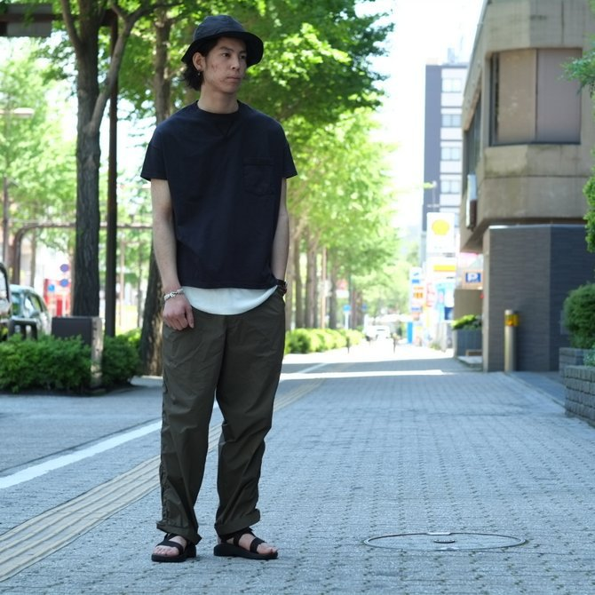 Cal Cru(カルクルー) C/N S/S RELAXED FIT反応染め(MADE IN USA)  -BLACK-【S】(12)