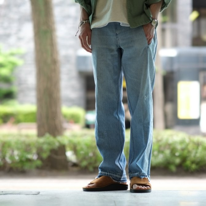 【30% off sale】7 ×7 / seven by seven ( セブン バイ セブン )   REWORK DENIM TROUSERS 2  - INDIGO -(12)