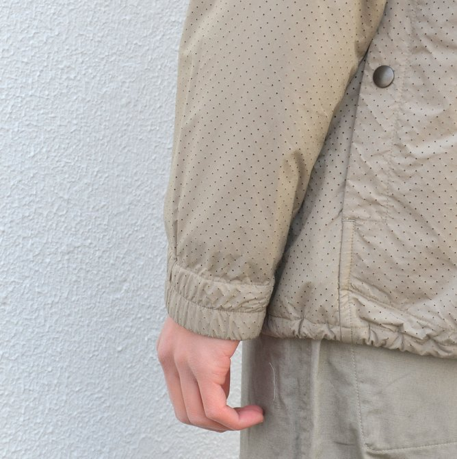 【40% off sale】ts(s) (ティーエスエス) Perforated Nylon Taffeta Cloth Coach Jacket -(32)Gray Beige- #TT36AJ02 (12)