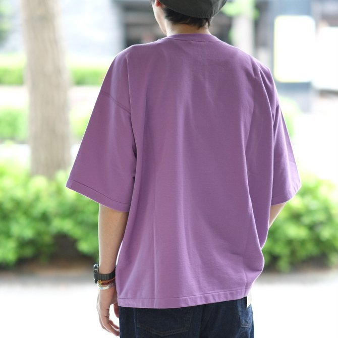【2018 SS】AURALEE(オーラリー)/  SUPER HIGH GAUGE SWEAT BIG TEE -PURPLE- #A8ST02NU(12)