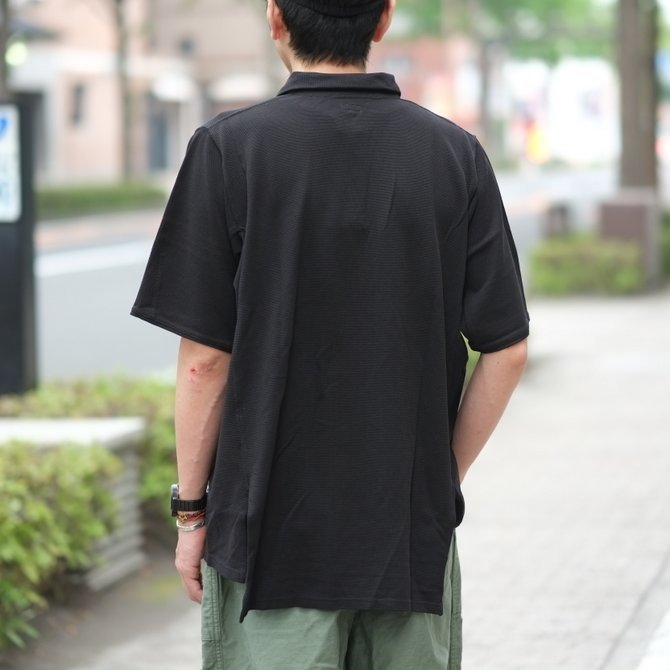 blurhms(ブラームス) / Seed Stitch Cubic Polo  -Black-  BHS-18SS024(12)
