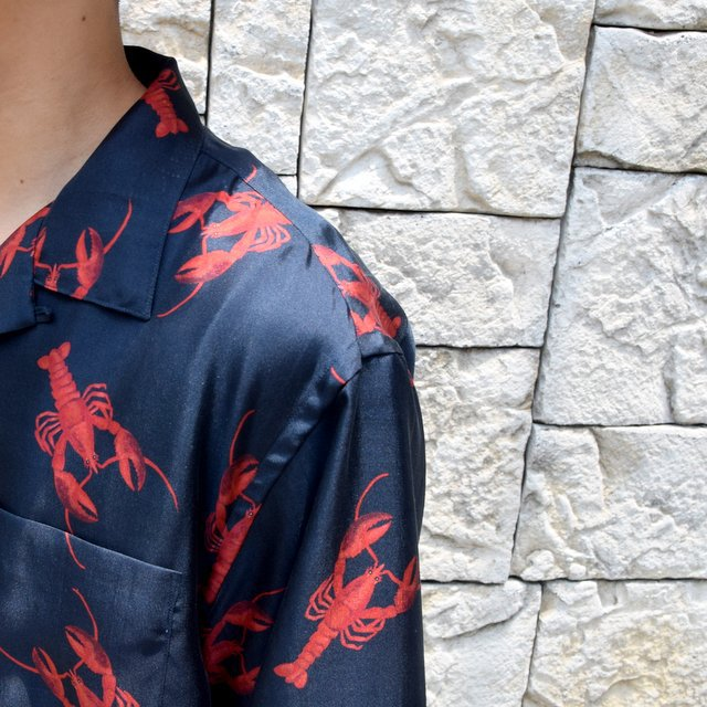 【40% off sale】【2019 SS】blurhms(ブラームス) / SILK OPEN COLLAR PATTERN S/S -LOBSTER- #BHS-19SS023PTN(12)