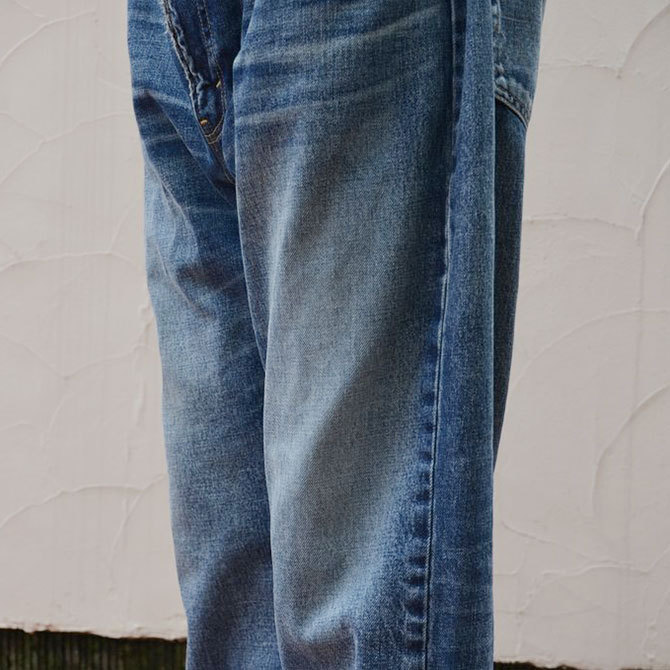 YOUNG&OLESEN(ヤングアンドオルセン) big cinch jeans-WASHED OUT-(13)