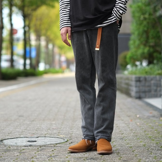7 ×7 / seven by seven ( セブン バイ セブン )   REWORK DENIM TROUSERS  - BLACK - size 2(M) (13)