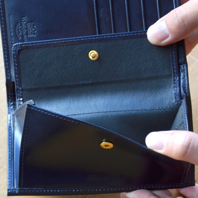 Whitehouse Cox (ホワイトハウスコックス)  3FOLD WALLET BRIDLE S7660 -NAVY-(13)