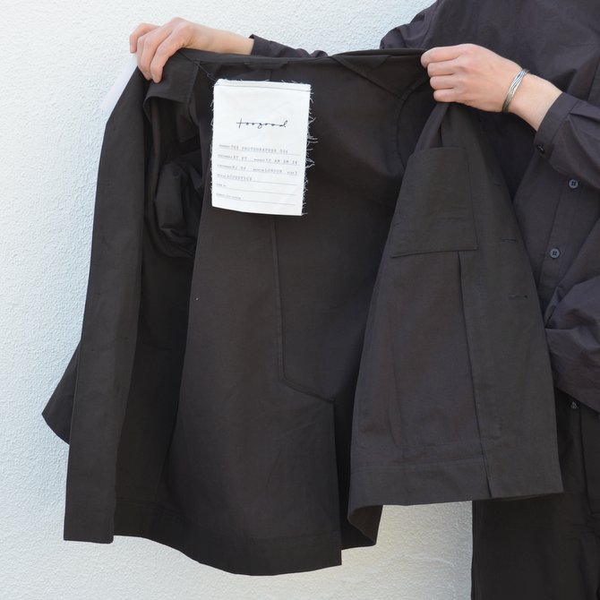 too good(トゥーグッド) / THE PHOTOGRAPHER JACKET PLAIN COTTON -SOOT-(13)