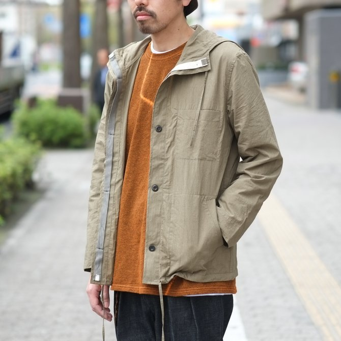 【30% off SALE】【2018 SS】FRANK LEDER(フランク リーダー) TRIPLE WASHED THIN COTTON HOOD JACKET -BEIGE-  #0212013(13)