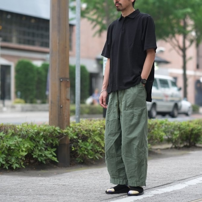 blurhms(ブラームス) / Seed Stitch Cubic Polo  -Black-  BHS-18SS024(13)