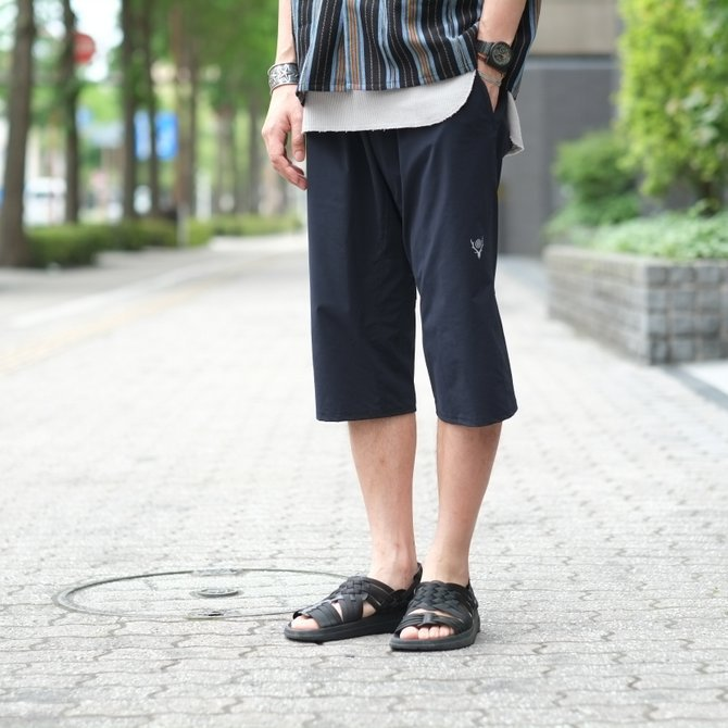 South2 West8(サウスツーウエストエイト) Cropped Boulder Pant [Poly Elastic Taffeta] -NAVY-  #CH767(13)