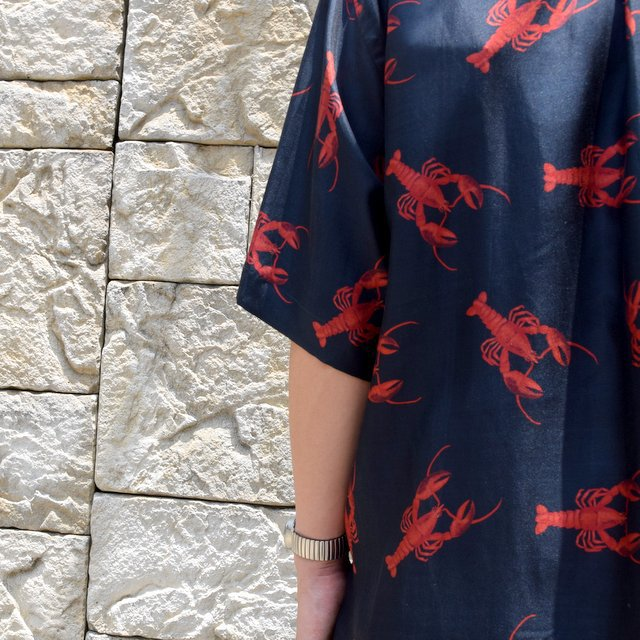 【40% off sale】【2019 SS】blurhms(ブラームス) / SILK OPEN COLLAR PATTERN S/S -LOBSTER- #BHS-19SS023PTN(13)