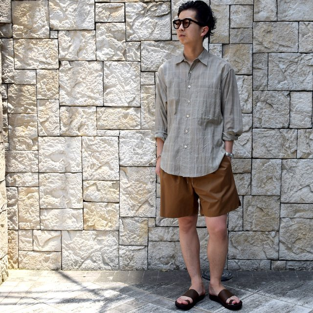 【2019 SS】AURALEE(オーラリー)/ LIGHT FINX POLYESTER SHORTS -2色展開-#A9SP03PW(13)