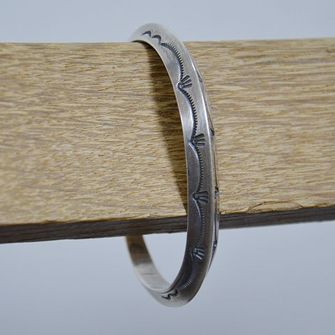 AL SOMERS(アルソマーズ) SILVER TRIANGLE BANGLE -B1357-(1)