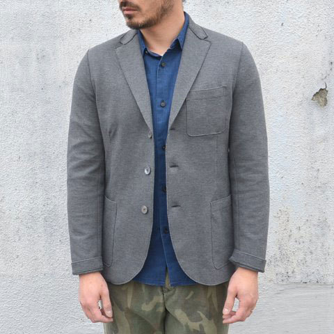 Harris Wharf London (ハリスワーフロンドン) Man Jacket Piquet -(140)middle grey- (1)