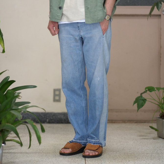 【30% off sale】7 ×7 / seven by seven ( セブン バイ セブン )   REWORK DENIM TROUSERS 2  - INDIGO -(1)