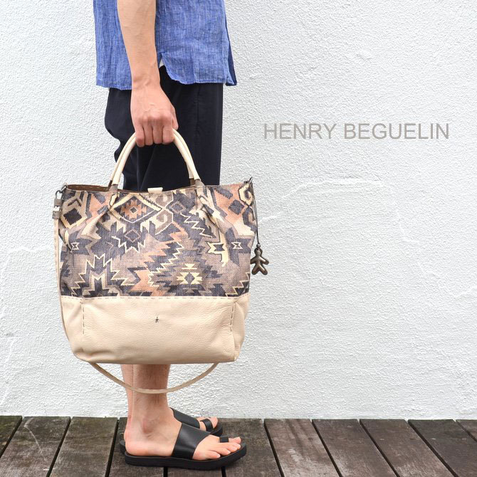HENRY BEGUELIN(エンリーベグリン) New Sacca Shopping tessutoe etn -Acacia-(1)