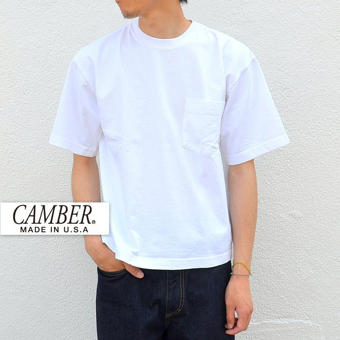 CAMBER(キャンバー) MAX WEIGHT POCKET TEE -WHITE-(1)