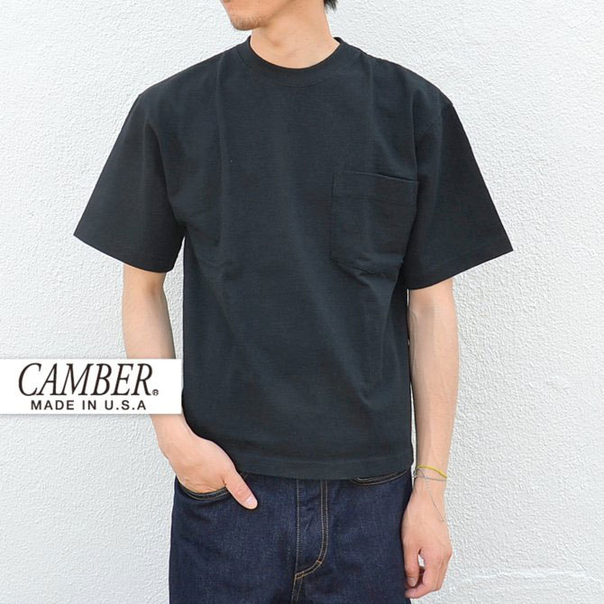 CAMBER(キャンバー) MAX WEIGHT POCKET TEE -BLACK-(1)