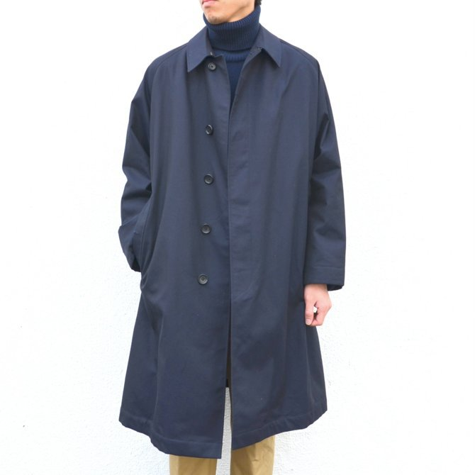 ANATOMICA(アナトミカ)/ SINGLE RAGLAN COAT GABARDINE -(500)NAVY- #530-511-06(1)