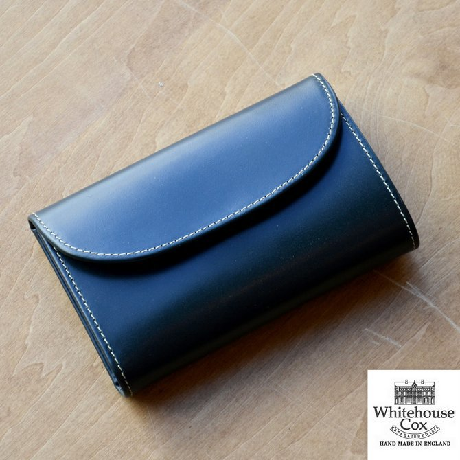 Whitehouse Cox (ホワイトハウスコックス)  3FOLD WALLET BRIDLE S7660 -GREEN-(1)