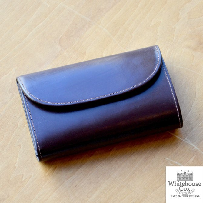 Whitehouse Cox (ホワイトハウスコックス)  3FOLD WALLET BRIDLE S7660 -HAVANA-(1)