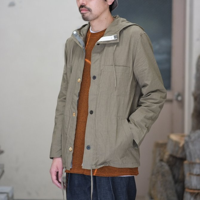 【30% off SALE】【2018 SS】FRANK LEDER(フランク リーダー) TRIPLE WASHED THIN COTTON HOOD JACKET -BEIGE-  #0212013(1)