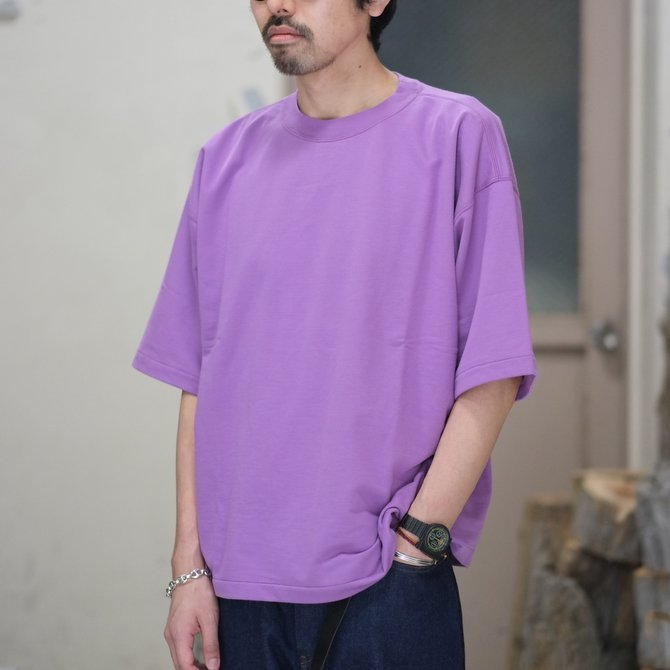 【2018 SS】AURALEE(オーラリー)/  SUPER HIGH GAUGE SWEAT BIG TEE -PURPLE- #A8ST02NU(1)