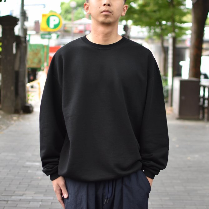 【2018 AW】AURALEE(オーラリー)/ SUPER SOFT HEAVY SWEAT P/O -BLACK- #A8AP01GU(1)