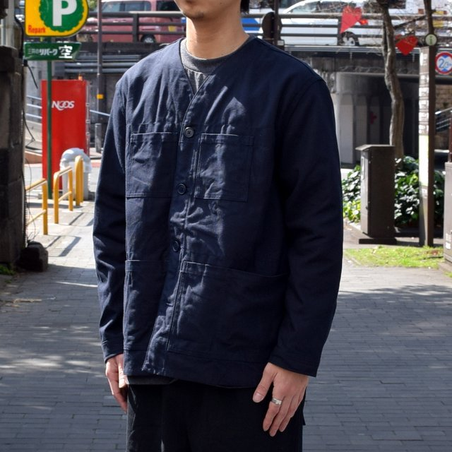 holk (ホーク) Farmers jacket -NAVY- #HOLK-002 (1)