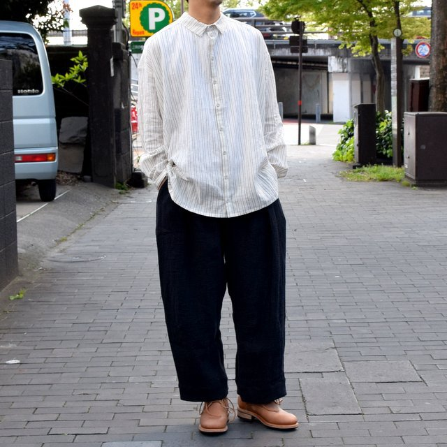 【2019 SS】 too good(トゥーグッド) / THE DRAUGHTSMAN SHIRTS WIDE -TICKING STRIPE-(1)
